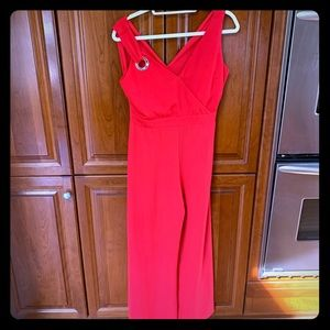 Zara Red Cropped Wide Leg Jumper . SZ Small